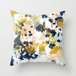 Sloane - abstract painting gender neutral baby nursery dorm college decor Throw Pillow