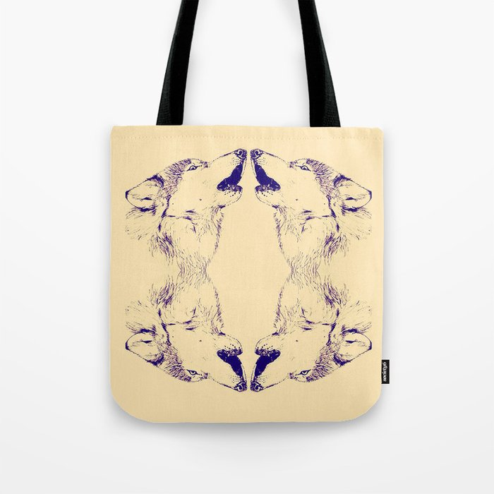 Wolf Pack Tote Bag By Lindsaywoodartist