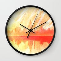 india Wall Clocks featuring INDIA by Drexler3