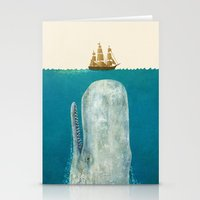 bathroom Stationery Cards featuring The Whale - colour option by Terry Fan