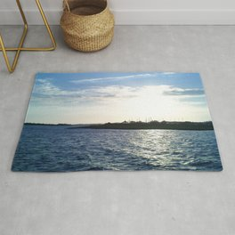 Sunset in the Harbor Rug