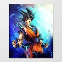 goku Canvas Prints featuring Goku by Vincent Vernacatola