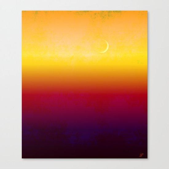 Moon Over The Desert Canvas Print
