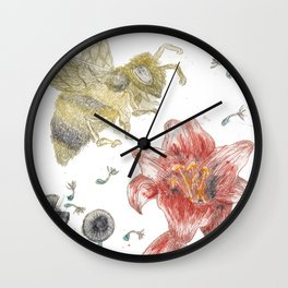 Bee Happy 1 Wall Clock