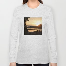 Sunset over Bowness Calgary Long Sleeve T-shirt