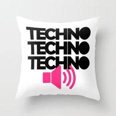 Techno Speaker Music Quote Throw Pillow