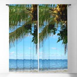 Far and Beyond. Beach Photography. Summer Blackout Curtain