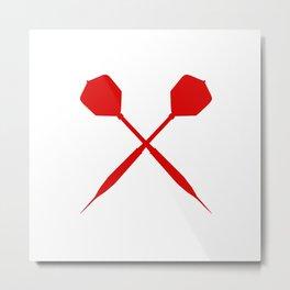 Dart Darts Dartboard Gift Sport Arrows Fun Metal Print