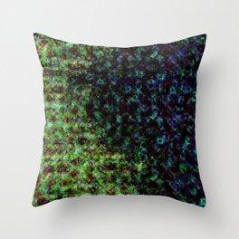 d61: color damage Throw Pillow