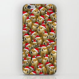 Christmas doge iPhone Skin