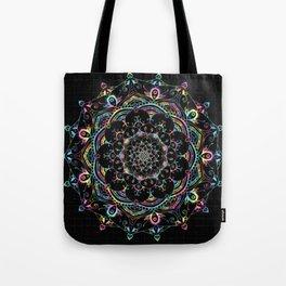 Transcendental Dream Coloured Mandala Design Tote Bag