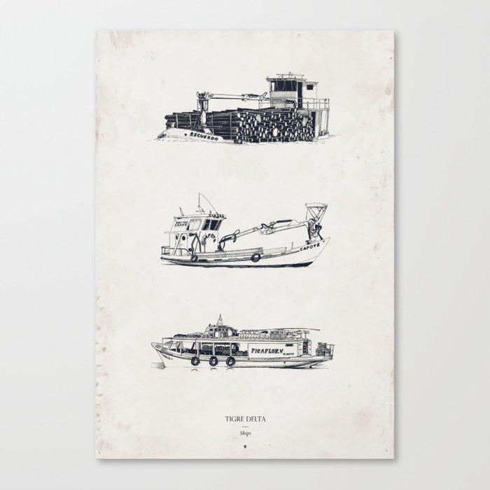 Tigre Delta: Ships Part Two Canvas Print