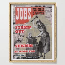 Jobs for Women and Girls - Stamp Out Sexism Serving Tray