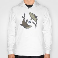 sharks Hoodies featuring Sharks by Anya McNaughton