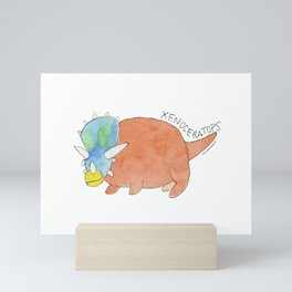 XENOCERATOPS Mini Art Print