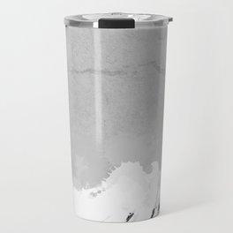 White marble spill on concrete Travel Mug
