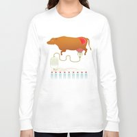 cow Long Sleeve T-shirts featuring Cow by Mira Maijala