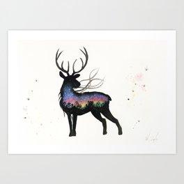 Aurora Australis Stag  Art Print