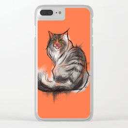 Norwegian Forest Cat Clear iPhone Case