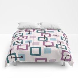 Vintage 1950s Tiles & Squares (Lavender) Comforters