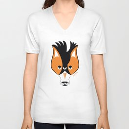 Fox and Crow Unisex V-Neck