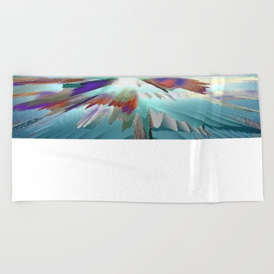 Pow Teal Splash Beach Towel