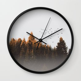 smoky forest Wall Clock