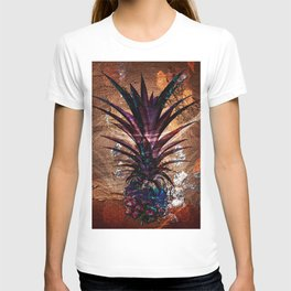 Copper Leaf Pineapple Art #buyart T-shirt