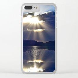 Salt Flat Sunset Clear iPhone Case