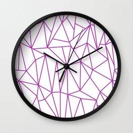 Geometric Cobweb (Purple & White Pattern) Wall Clock