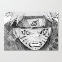 naruto Canvas Prints featuring Naruto by DeMoose_Art