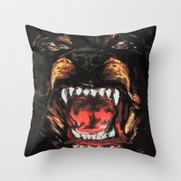 givenchy Throw Pillows featuring Givenchy Dogface by Beauti Asylum