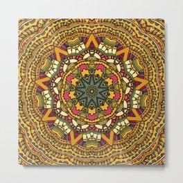 Mandala Floral II Metal Print