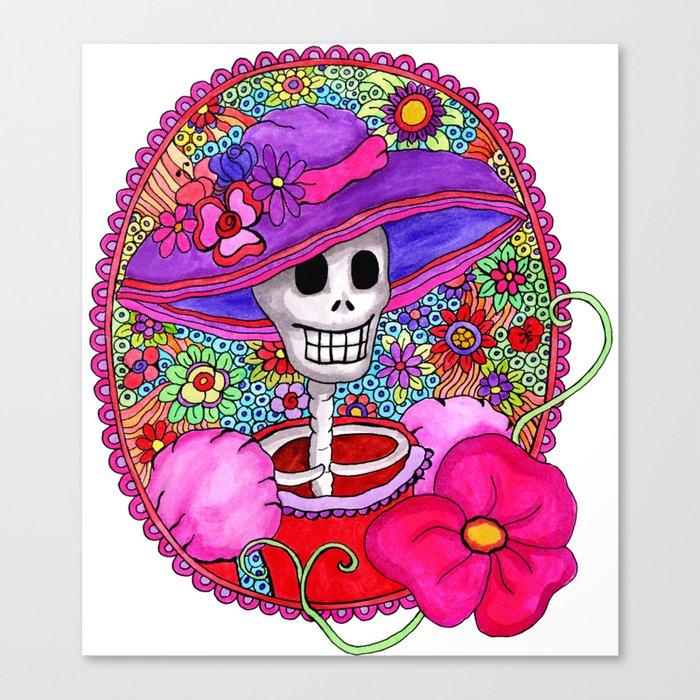 Catrina Doña Beatriz Canvas Print