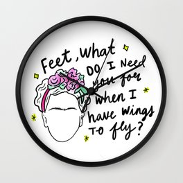 Viva la Frida Wall Clock