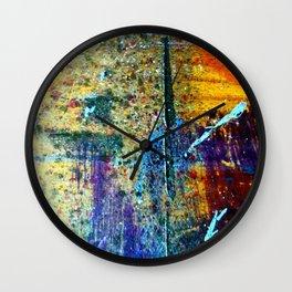 Easel Abstract 8 Wall Clock