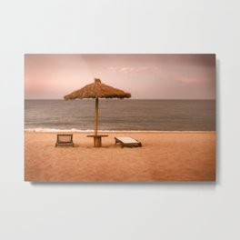 Beach front property Metal Print