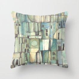 Urbe fragmentos N° 6 (City fragments N° 6) Throw Pillow