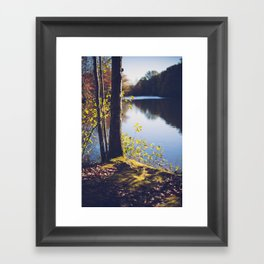 Solitude Lake Framed Art Print