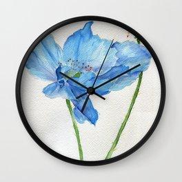 Blue North Wall Clock