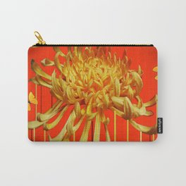 SURREAL YELLOW SPIDER MUM & BUTTERFLIES ORANGE ART Carry-All Pouch
