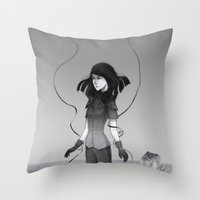 poetry Throw Pillows featuring Poetry by Fanni Budaházi