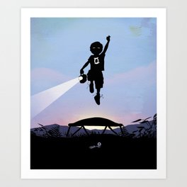 Green Lantern Kid Art Print