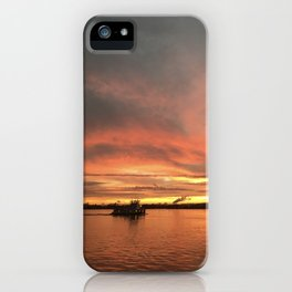 The Tugboat - Sunsets at The Fly series iPhone Case