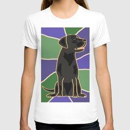 Artistic Black Labrador Dog Abstract T-shirt