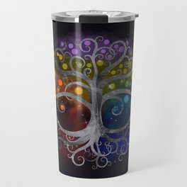 Tree of life Silver Swirl Travel Mug