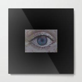 Eye 1# Rose Metal Print
