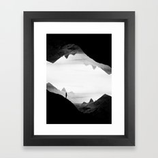 black wasteland isolation Framed Art Print