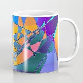 Violet Orange Magenta Abstract Coffee Mug