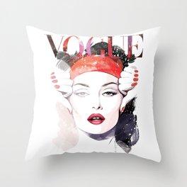 Vogue Fashion Illustration #6 Throw Pillow
